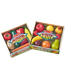 Melissa & Doug Kids' Combo Fruit & Veggies Set