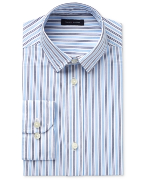 Tommy Hilfiger Twill Stripe LongSleeve ButtonUp Shirt Big Boys (820)