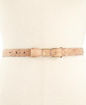Vintage Retro Belts kate spade new york Cork-Print Bow Buckle Skinny Belt $38.25 AT vintagedancer.com