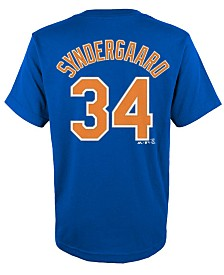 Majestic Kids' Noah Syndergaard New York Mets Official Player T-Shirt, Big Boys (8-20)