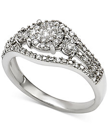 Diamond Ring (1/4 ct. t.w.) in Sterling Silver