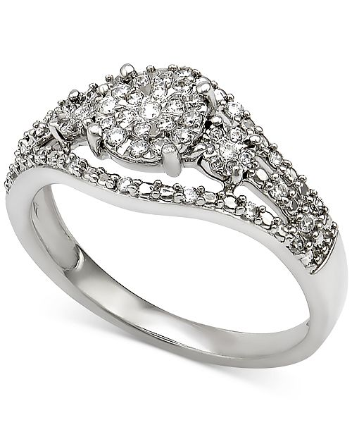 Macy's Diamond Ring (1/4 ct. t.w.) in Sterling Silver