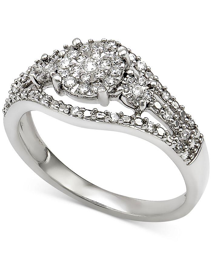 Macy's - Diamond Ring (1/4 ct. t.w.) in Sterling Silver