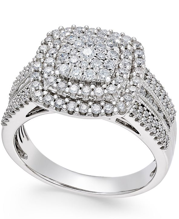 Macy's Diamond Cluster Ring (1 ct. t.w.) in 14k Gold or White Gold