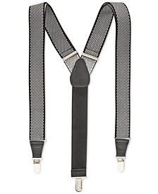 Men's Diamond Print Suspenders, Created for Macy's