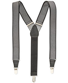 Club Room Men's Diamond Print Suspenders, Created for Macy's
