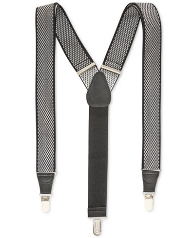 Club Room Men's Diamond Print Suspenders, Created for Macy's