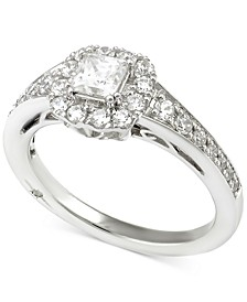 Certified Diamond Princess Engagement Ring (1 ct. t.w.) in 18k White Gold, Created for Macy's