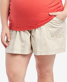 Motherhood Maternity Plus Size Secret Fit Belly® Cargo Shorts