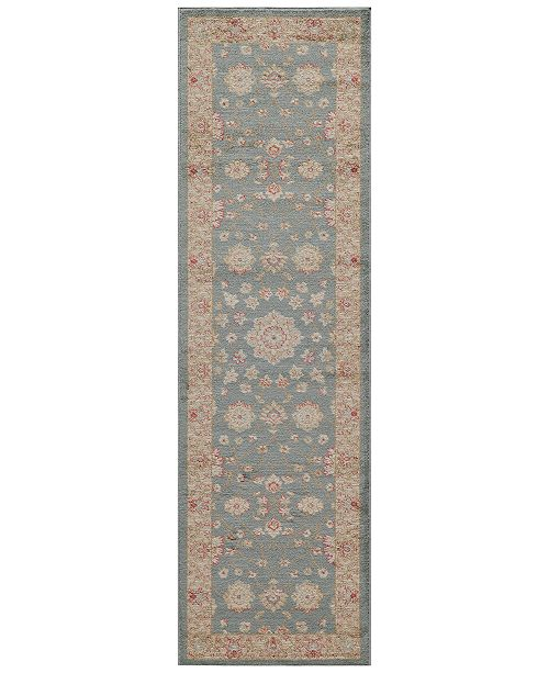"""Momeni CLOSEOUT! Voyage Abbey Blue 2'3""""x7'6"""" Runner Rug"""