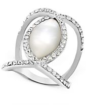 I.N.C. Pavé Crystal Statement Ring, Created for Macy's