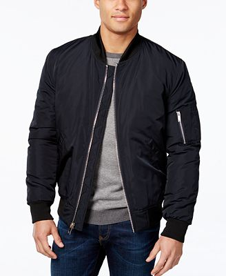 Vince Camuto Men's Lined Bomber Jacket - Coats & Jackets - Men ...