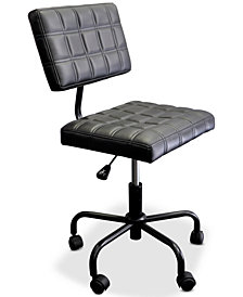 Taron Rolling Quilted Computer Chair, Quick Ship