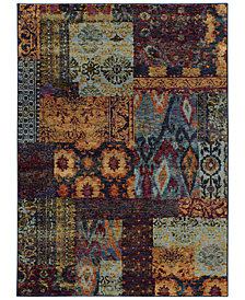 "Macy's Fine Rug Gallery Journey  Patchwork Multi 3'3"" x 5'2"" Area Rug"
