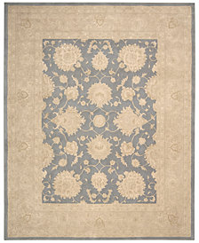 "kathy ireland Home Royal Serenity Hyde Park Slate 5'6"" X 7'5"" Area Rug"