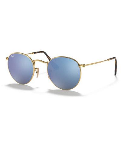 Ray-Ban Sunglasses, RB3447N 50 ROUND FLAT LENS