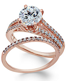 Certifiied Diamond Bridal Set (2 ct. t.w.) in 18k Rose Gold