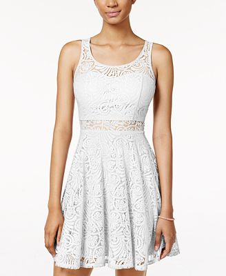 American Rag Juniors Lace Illusion Skater Dress Created For Macy S