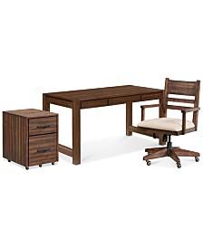 Avondale Home Office Furniture, 3-Pc. Set (Desk, File Cabinet & Desk Chair)
