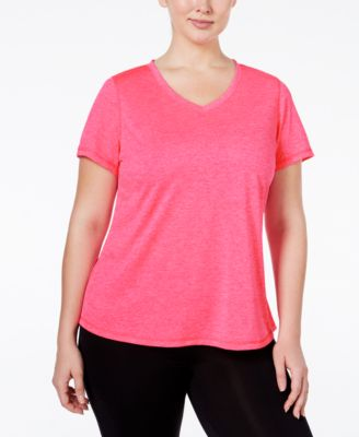 Ideology Plus Size Essential V-Neck Performance T-Shirt, Only at Macy's