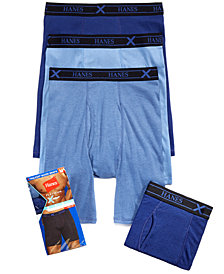 Hanes Men's X-Temp Long Boxer Briefs 4-Pack