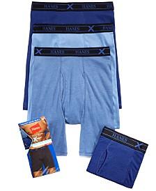 Hanes Men's X-Temp Long Boxer Briefs 4-Pack