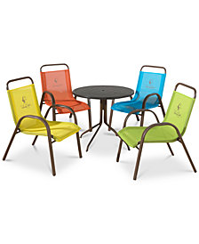 Kids' 5-Pc. Dining Set (Table & 4 Chairs), Quick Ship