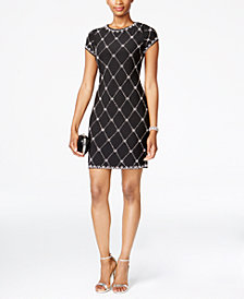 Betsy & Adam Embellished Shift Dress