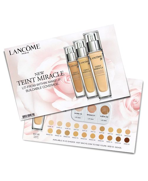 Lancome Receive a Complimentary Teint Miracle Sample with Any Beauty Purchase