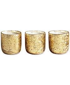 Illume Luxe Mini Sanded Mercury Glass Trio Candle Set
