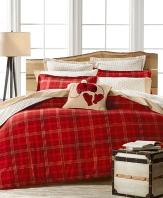 Martha Stewart Collection Appleton Plaid Flannel Duvet Covers, Created For  Macyu0027s
