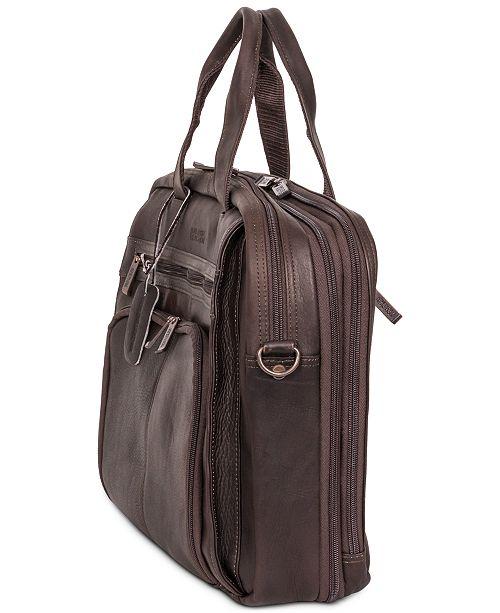 c2071569cd9f Ben Sherman Columbian Leather Expandable Double Gusset Laptop Briefcase ...