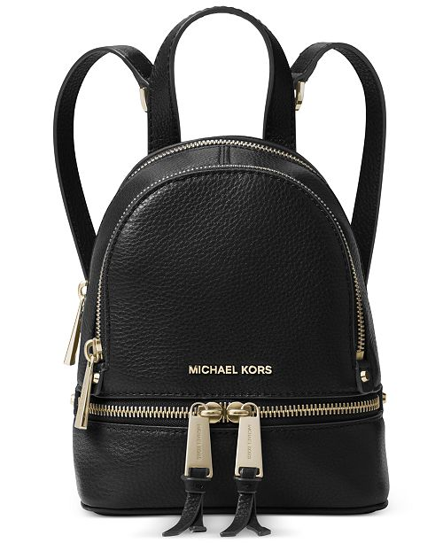 51903927b9cd Michael Kors Rhea Zip Mini Messenger Backpack & Reviews ...