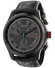 Gucci Unisex Swiss Chronograph G-Timeless Black Fabric Strap Watch 44mm YA126244