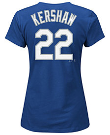 Majestic Women's Clayton Kershaw Los Angeles Dodgers T-Shirt