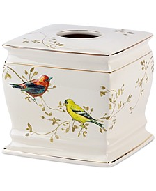Bath Accessories, Gilded Birds Tissue Holder