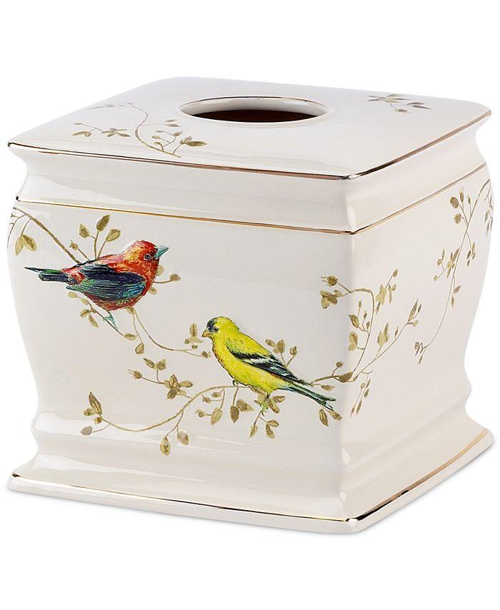 Avanti - Gilded Birds Tissue Holder