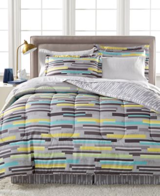 cliffside reversible bedding ensemble created for macyu0027s - California King Bed Sheets