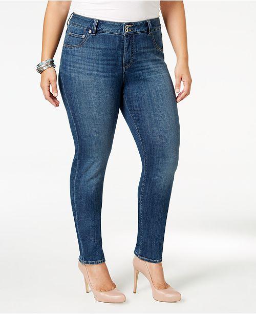 2fe140ac51cb1 Lucky Brand Trendy Plus Size Emma Straight-Leg Jeans   Reviews ...