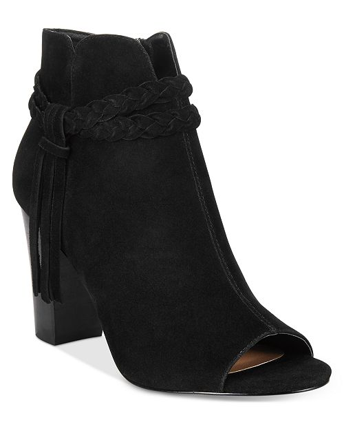 XOXO Belina Braided Peep-Toe Booties