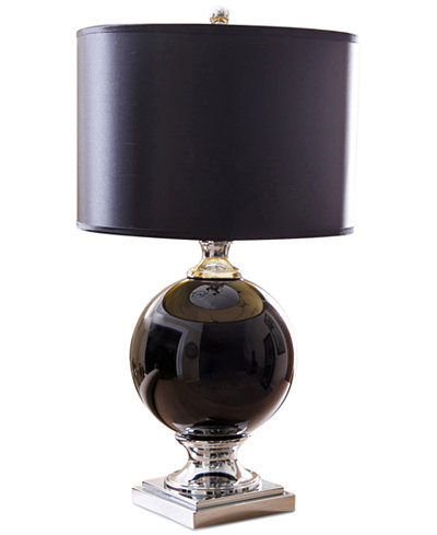 Abbyson Living Black Glass Table Lamp