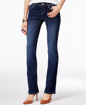 INC International Concepts Petite Curvy Spirit Wash Bootcut Jeans, Created for Macy's