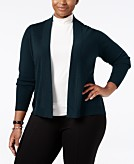 Charter Club Plus Size Cashmere Open-Front Cardigan Only at Macys