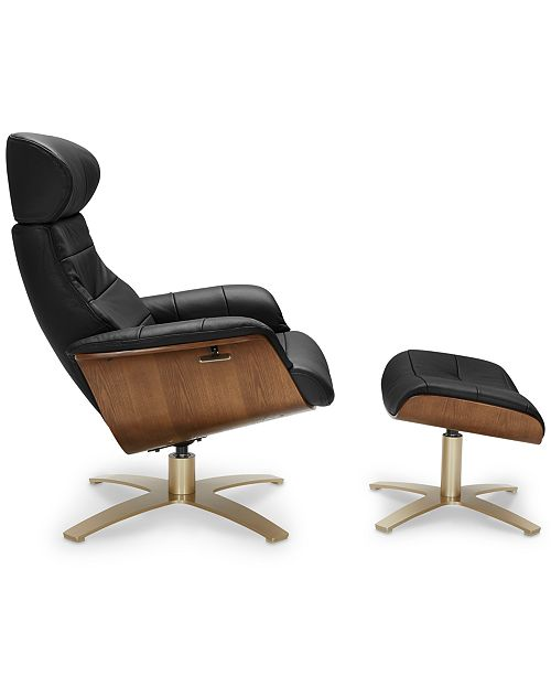 Fantastic Annaldo Leather Swivel Chair Ottoman 2 Pc Set Gmtry Best Dining Table And Chair Ideas Images Gmtryco