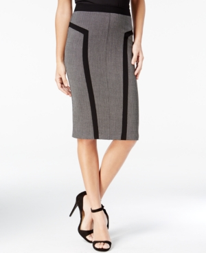Retro Skirts: Vintage, Pencil, Circle, & Plus Sizes Bcx Juniors Textured Pencil Skirt $39.00 AT vintagedancer.com
