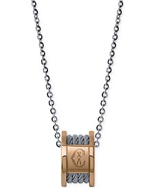 Women's Forever Two-Tone PVD Stainless Steel Cable Pendant Necklace