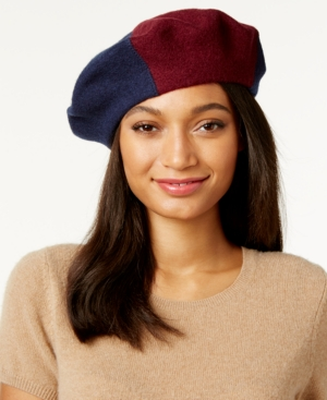 1940s Hats History Inc International Concepts Colorblock Beret Only at Macys $22.75 AT vintagedancer.com