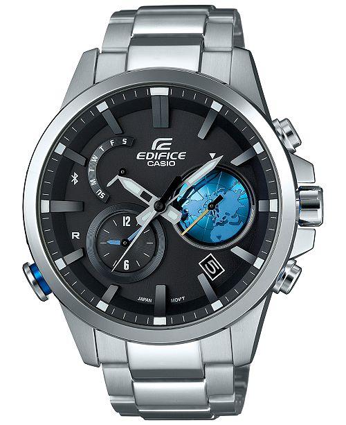 G-Shock Men's Stainless Steel Bracelet Smartwatch 52x47mm EQB600D-1A2