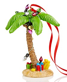 Hawaii Palm Tree with Christmas Lights Ornament Created for Macy's