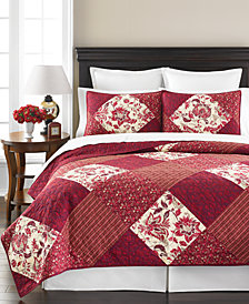 CLOSEOUT! Martha Stewart Collection Somerset Square Full/Queen Quilt, Created for Macy's
